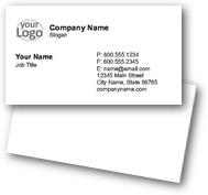 Text & Logo Business Cards