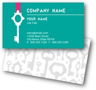 Old Fashion Key Business Cards