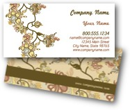 Retro Flowers Business Cards