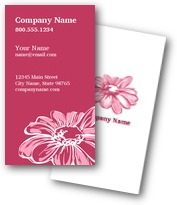 Pink Daisies Business Cards