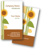 Tall Sunflowers Business Cards