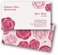 Seamless Rose Business Cards