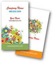 Flowers & Butterflies Business Cards