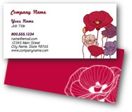 Colorful Poppies Business Cards