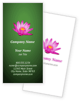 Lotus Blossom Business Cards