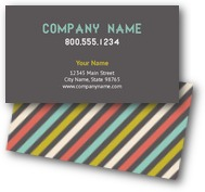 Colorful Horizontal Business Cards