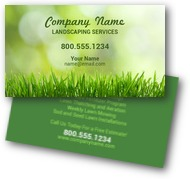 Green Grass Landscaping Business Cards