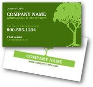 Lawn & Tree Landscaping Business Cards