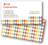Colorful Diamonds Business Cards