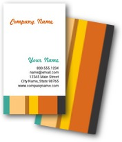 Colored Rectangles Business Cards