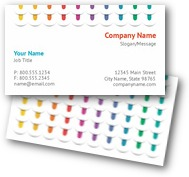 Colorful Threads Business Cards