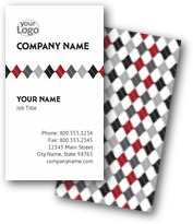 Diamond Checks Business Cards