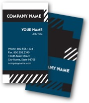 Slanting Stripes Business Cards