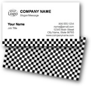 Checkered Business Cards