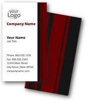 Regency Stripes Business Cards