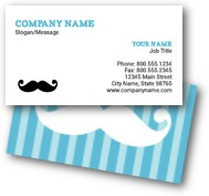 Mustache Stripes Business Cards