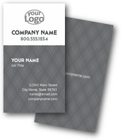 Rectangle Plaid Business Cards