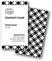 Black & White Dots Business Cards