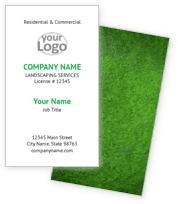 Green Lawn Landscaping Business Cards