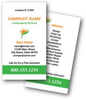 Green Professional Landsc Business Cards