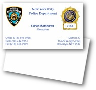 Police Business Cards