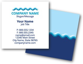 Blue Wave Business Cards