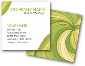 Green Wave Business Cards