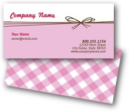 Ribbon Plaid Business Cards