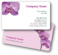 Purple Orchid Business Cards