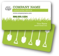 Lawn Care Landscaping Business Cards