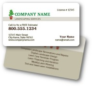 Garden Landscaping Business Cards