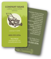 Lawn Mower Landscaping Business Cards
