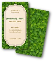 Fresh Leaves Landscaping Business Cards