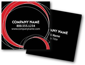 Retro Circles Business Cards
