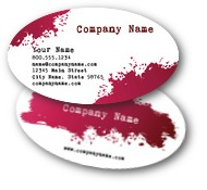 Paint Splat Business Cards